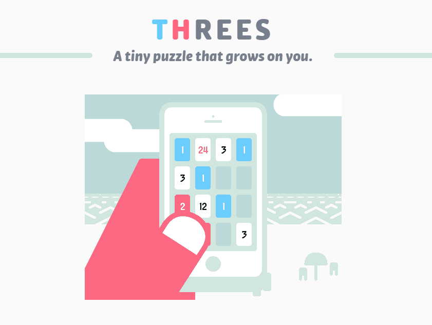 THREES is an android game that works without internet