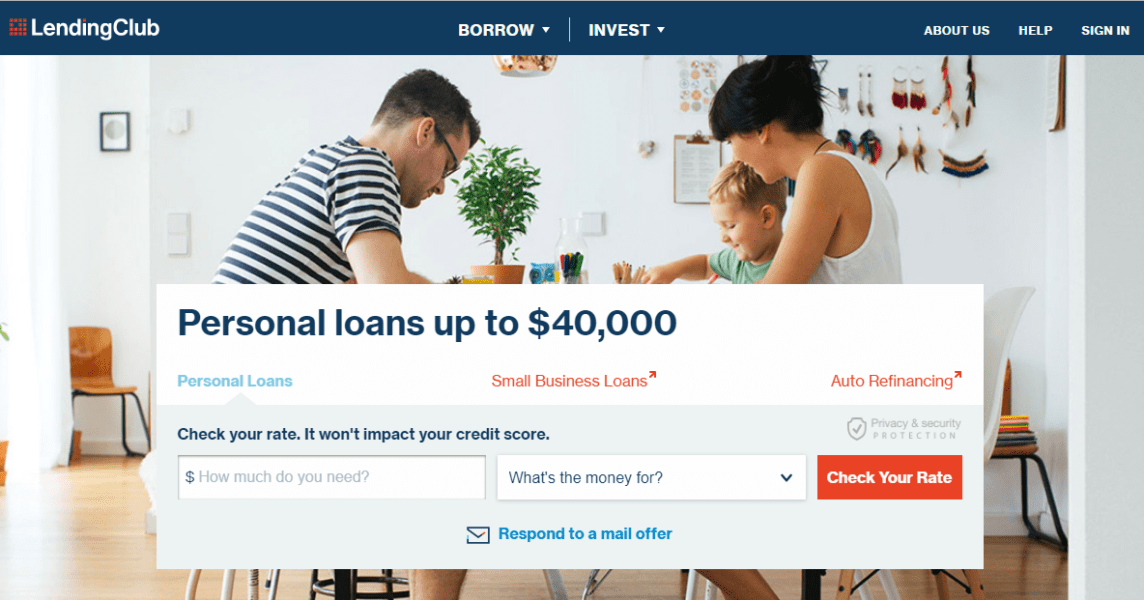 Lending Club offers you peer to peer lending and alternative investment solutions with an option to lend a personal loans up to $40,000. This is definitely subject to approval upon application.
