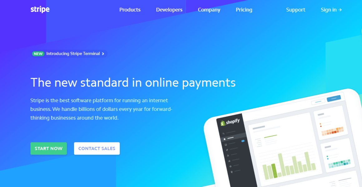 Stripe prides itself with a fraud prevention technology and internet payment facilities. Another of the top fintech companies out there.