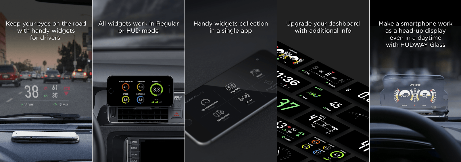 HUD Widgets - Driver Assist App