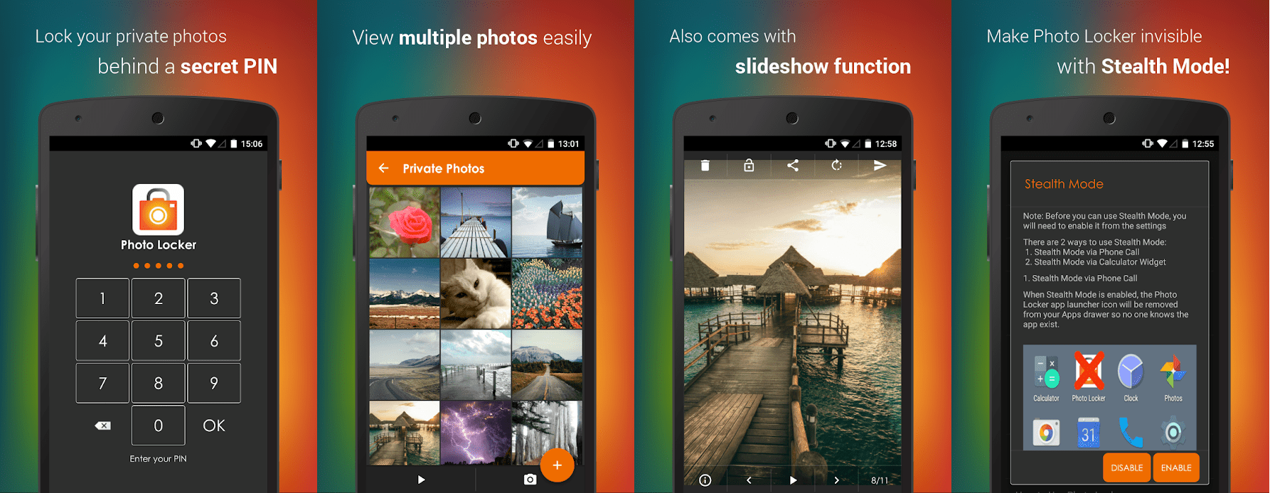 Hide Photos in Photo Locker lets you hide android photos easily