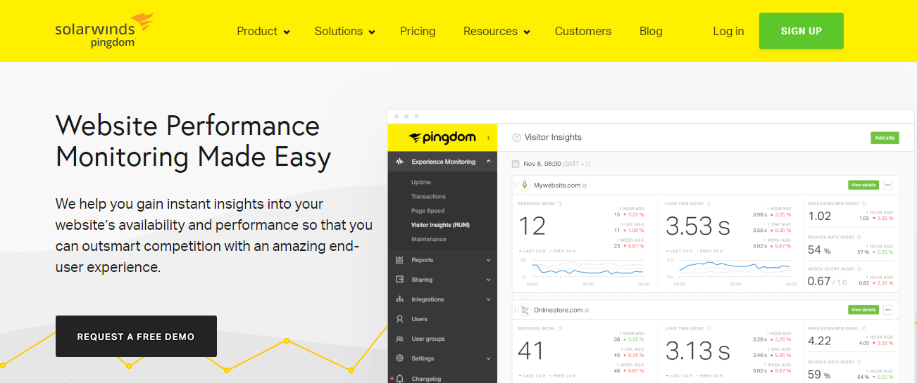 Free SEO Tools - Pingdom Makes Website Performance Monitoring Easy