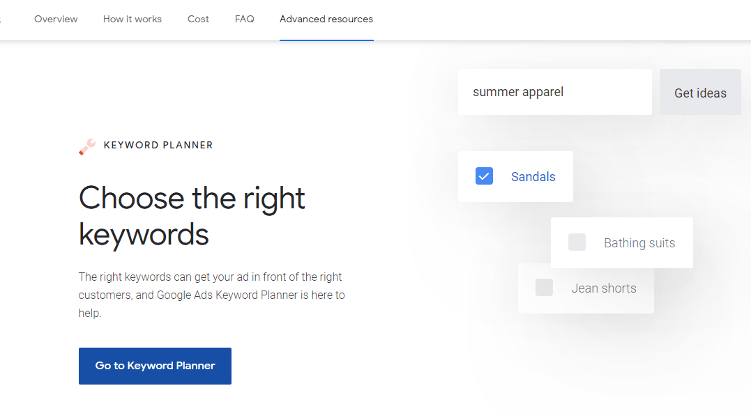 GOOGLE KEYWORD PLANNER let's you choose the Right Keywords with this free Research Tool by Google Ads