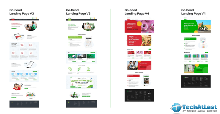 Gojek has smooth and streamlined landing page for arousing the audience