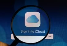 Sign in to iCloud under magnifying glass