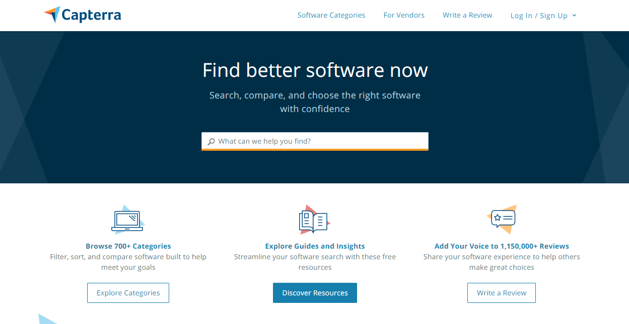 Capterra - Find better software now