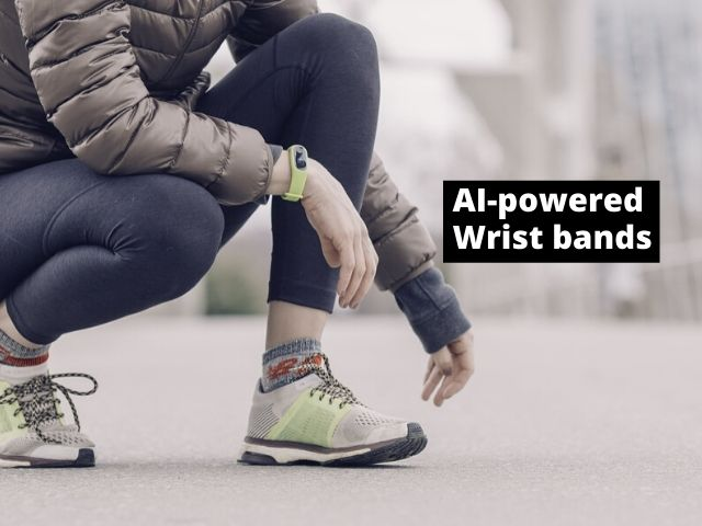 AI-based Wristbands is one example of AI in fitness industry