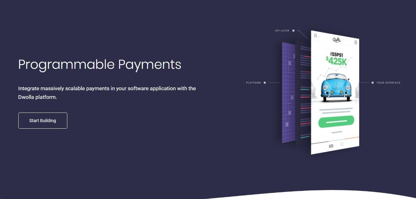 Dwolla programmable payments portal was designed with Python language