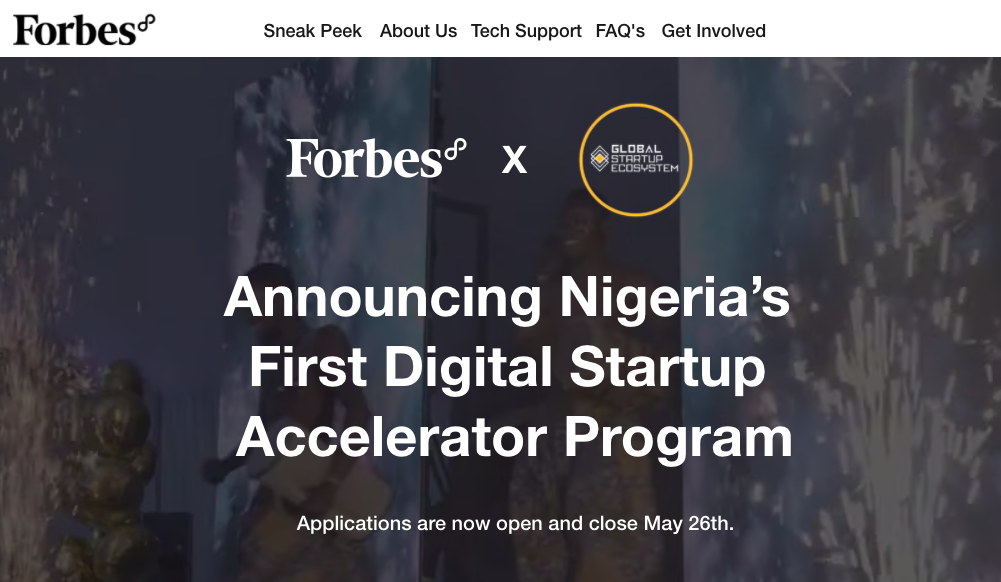 GSE Forbes Launches Nigeria's First Digital Accelerator Program