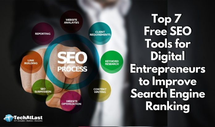 Top 7 Free SEO Tools for Digital Entrepreneurs to Improve Search Engine Ranking
